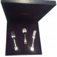 BOX128   Child's Cutlery Set Sterling Silver Ari D Norman