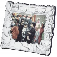 FR664   Baby Photo Frame with Train and Toy Design 10cm x 8cm Sterling Silver Ari D Norman