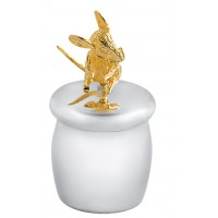 GT2010   Tooth Fairy Box with Gold Plated Moving Mouse Sterling Silver Ari D Norman
