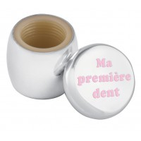 GT2303   Tooth Fairy Box with Engraved 'Ma première dent' in Pink Enamel Sterling Silver Ari D Norman