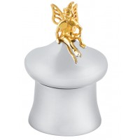 GT792   Tooth Fairy Box with Gold Plated Fairy Sterling Silver Ari D Norman
