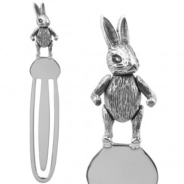 GT1022   Moveable Rabbit Bookmark Sterling Silver Ari D Norman