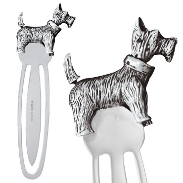 GT2290   Moveable Scottie Dog Bookmark Sterling Silver Ari D Norman
