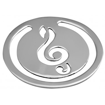 GT587   Round Musical Note Motif Bookmark Sterling Silver Ari D Norman
