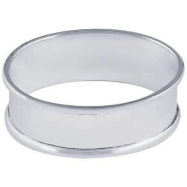 GT2269   Plain Oval Napkin Ring Sterling Silver Ari D Norman