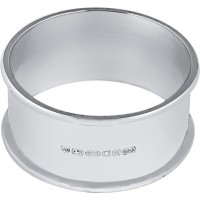 GT2270   Plain Round Napkin Ring Sterling Silver Ari D Norman