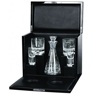 GT2122   VIP Drinks Set Housed in a Maple Leaf Wood Cabinet Ari D Norman