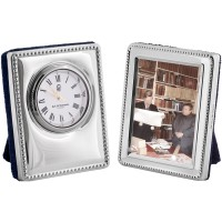 BOX114   Miniature Clock and Frame Set Sterling Silver Ari D Norman