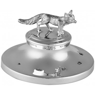 GT46   Fox Paperweight Sterling Silver Ari D Norman