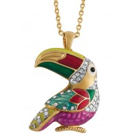 JB194   Gold Plated Toucan Brooch / Pendant Jewelari of London