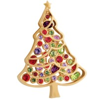 JB210 – Christmas tree brooch