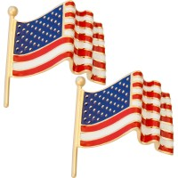 JCU20   Gold Plated USA Flag Cufflinks Jewelari of London