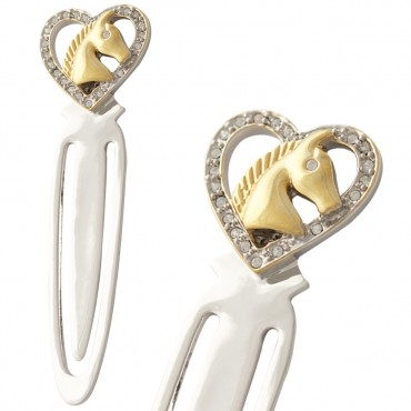 JGT29   Horse Head in Heart Bookmark Jewelari of London