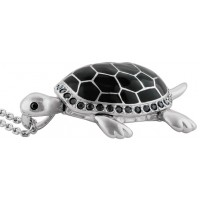 JNK19 - Black Turtle Necklace