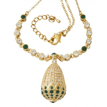 JNK34   Golden Egg Necklace Jewelari of London