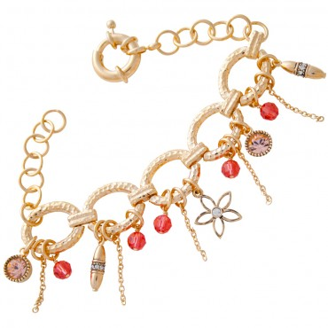 VC8   Gold Plated Charm Bracelet Jewelari of London