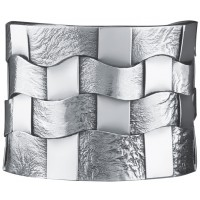 BE423   Woven Hatch Design Bangle Sterling Silver Ari D Norman
