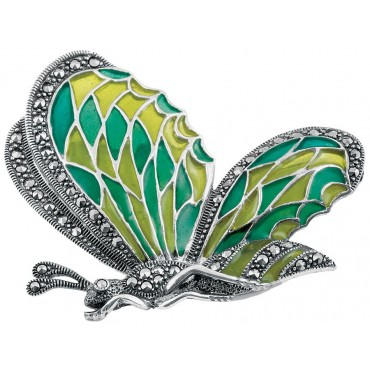 B225   Art Nouveau Butterfly Brooch Sterling Silver Ari D Norman