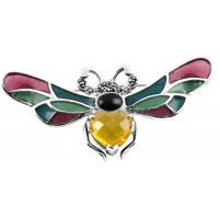 B368   Bumble Bee Brooch Sterling Silver Ari D Norman