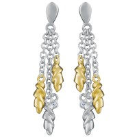EA612   Gold Plated Drop Earrings Sterling Silver Ari D Norman