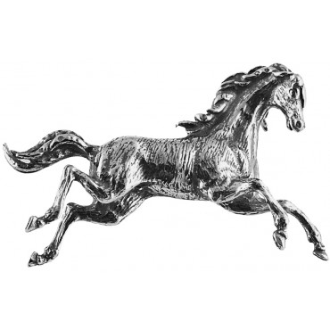 B440   Galloping Horse Brooch Sterling Silver Ari D Norman
