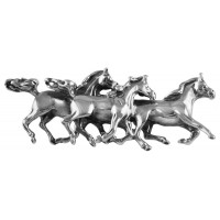 B640   Galloping Horses Brooch Sterling Silver Ari D Norman