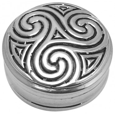 PB545 - Sterling Silver Celtic Design Pillbox