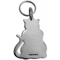 K396   Cat Collar Tag Sterling Silver Ari D Norman