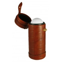 LTHR134 Croco Leather Golf Ball Holder