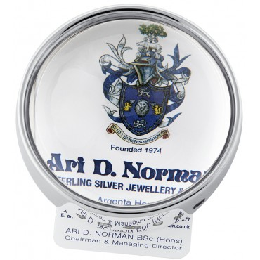 GT2264   Desk Paperweight and Magnifying Glass Sterling Silver Ari D Norman