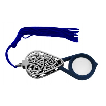 GT88   Folding Magnifying Glass With Tassel Sterling Silver Ari D Norman