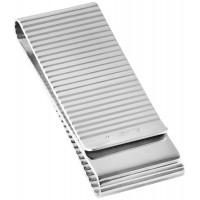 GT1020   Double Sided Ribbed Money Clip Sterling Silver Ari D Norman