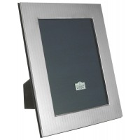 .925 Sterling Silver Photo Frame with Engraved Herringbone Pattern made in UK Photo size 13cm x 9cm or 5 inch x 3.5 inch