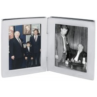 GT352 - Double Rectangle Miniature Folding Travel Photo Frame