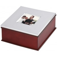 GT2004   Wooden Photo Frame Keepsake Box Sterling Silver Ari D Norman