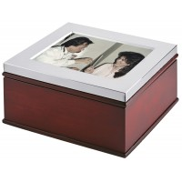 GT52   Wooden Photo Frame Keepsake Box Sterling Silver Ari D Norman