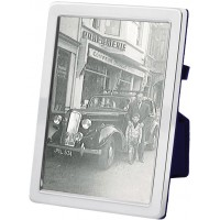 FR549   Plain Photo Frame With Velvet Back 20cm x 25cm Sterling Silver Ari D Norman