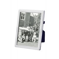 FR648   Plain Photo Frame With Velvet Back 10cm x 15cm Sterling Silver Ari D Norman