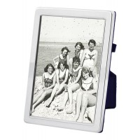 FR685   Plain Photo Frame With Velvet Back 15cm x 20cm Sterling Silver Ari D Norman