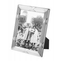 FR172 - Sterling silver photo frame with mahogany finish back 10cm x 15cm