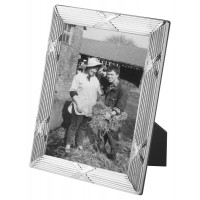 FR173   Photo Frame With Mahogany Finish Back 13cm x 18cm Sterling Silver Ari D Norman