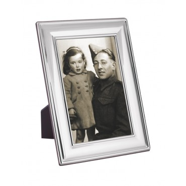 FR651   Plain Photo Frame With Wooden Back 10cm x 15cm Sterling Silver Ari D Norman