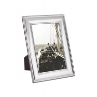 FR701   Plain Photo Frame With Wooden Back 9cm x 13cm Sterling Silver Ari D Norman