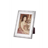 FR706   Ribbon And Reed Photo Frame With Wooden Back 6cm x 9cm Sterling Silver Ari D Norman
