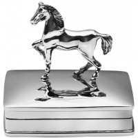 PB584   Ari D Norman Sterling Silver Horse Pill Box