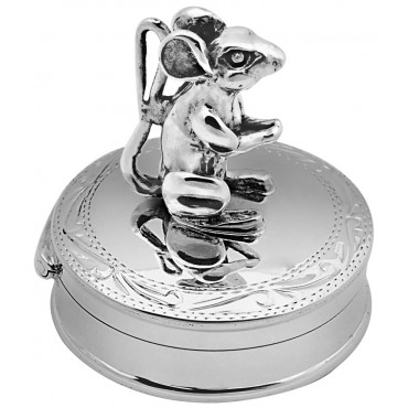 PB531   Ari D Norman Sterling Silver Mouse Pill Box