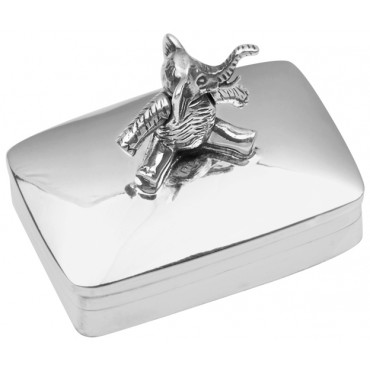 PB532   Ari D Norman Sterling Silver Pill Box with Moving Elephant