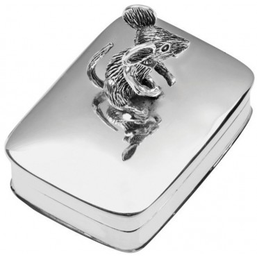 PB603 Ari D Norman Sterling Silver Pill Box with Moving Mouse