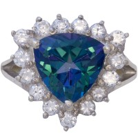 RG554   Ring with Topaz and Cubic Zirconia Sterling Silver Ari D Norman
