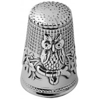GT488   Owl Thimble Sterling Silver Ari D Norman